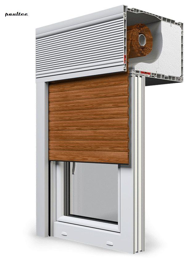 6 Holz dunkel Fenster Rollladen CleverBox Beclever