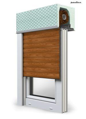 6 Holz dunkel Fenster Rollladen ROKA TOP 2 Unterputzrollladen Beck-Heun