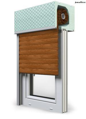 6 Holz dunkel Fenster Rollladen ROKA TOP 2RG Unterputzrollladen Beck-Heun