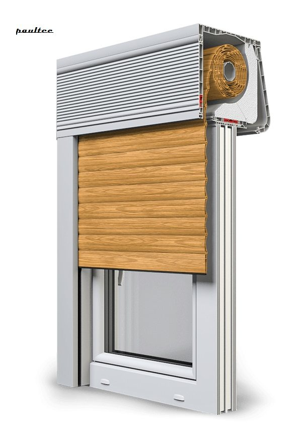 7 Holz hell Fenster Rollladen CleverBox Soft Beclever