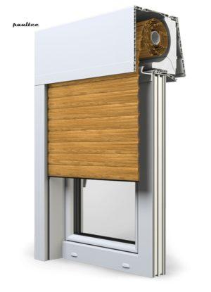 7 Holz hell Fenster Rollladen Elite XT Exte Aufsatzrollladen Aufbaurollladen