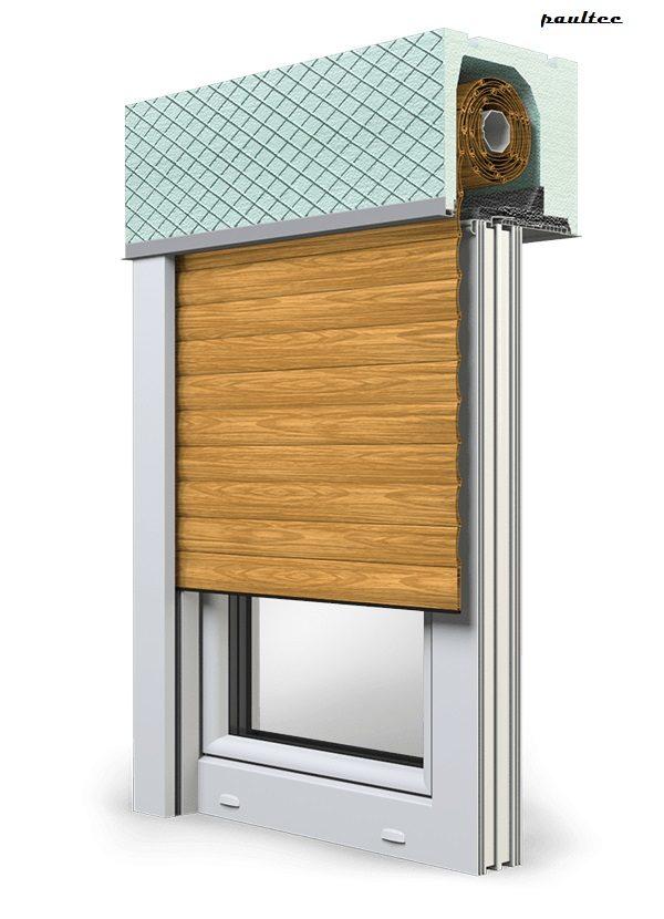 7 Holz hell Fenster Rollladen ROKA TOP 2 Unterputzrollladen Beck-Heun