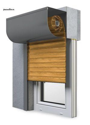 7 Holz hell Fenster Rollladen SKP Vorbaurollladen Aluprof