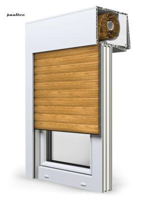 7 Holz hell Fenster Rollladen SKT Opoterm Aluprof