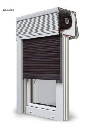 8 Dunkelbraun Fenster Rollladen CleverBox Soft Beclever