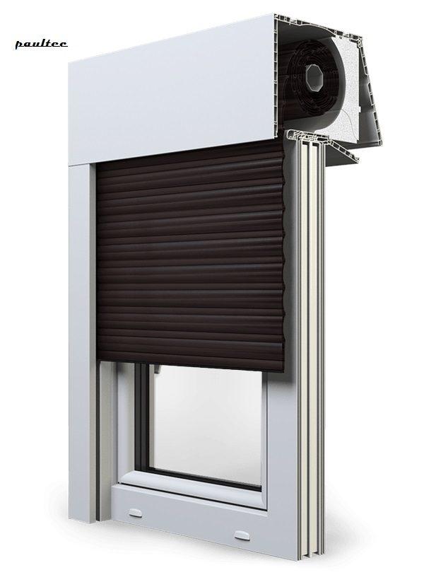 8 Dunkelbraun Fenster Rollladen EXPERT XT Exte Aufsatzrollladen Aufbaurollladen