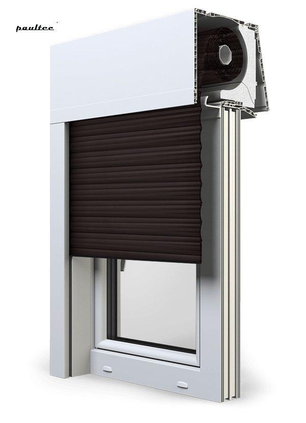 8 Dunkelbraun\ Fenster Rollladen Elite XT Exte Aufsatzrollladen Aufbaurollladen