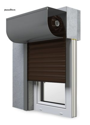 8 Dunkelbraun Fenster Rollladen SKP Vorbaurollladen Aluprof