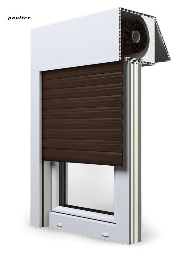 9 Braun Fenster Rollladen EXAKT Exte Aufsatzrollladen Aufbaurollladen