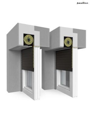 9 Braun Fenster Rollladen QuadBox Unterputzrollladen BeClever