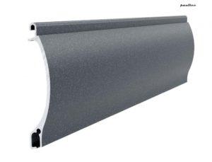 Anthrazitgrau perlmutt matt Stranggepresstes PEKP 52 Aluminiumprofil