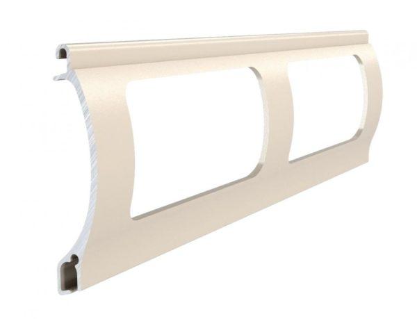 Beige Stranggepresstes PEK 52 Aluminiumprofil Gitter