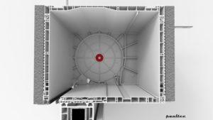 Doppellagersitz für eine optimale Ausrichtung der Panzerwelle in der Wickelfunktion