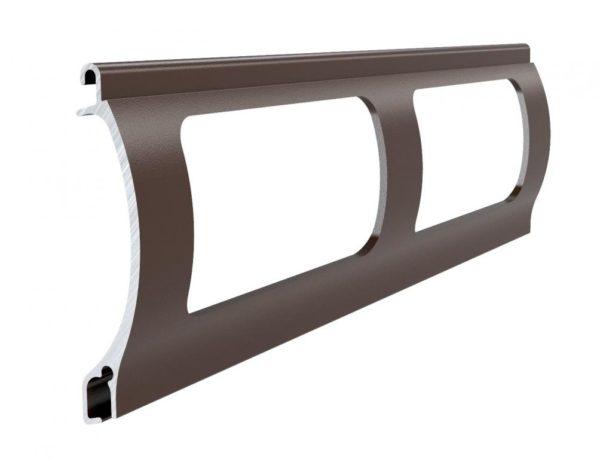 Dunkelbraun Stranggepresstes PEK 52 Aluminiumprofil Gitter