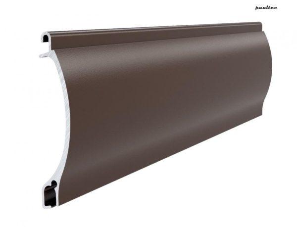 Dunkelbraun Stranggepresstes PEKP 52 Aluminiumprofil