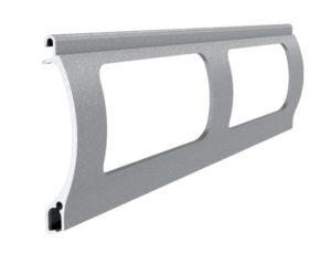 Grau perlmutt matt Stranggepresstes PEK 52 Aluminiumprofil Gitter
