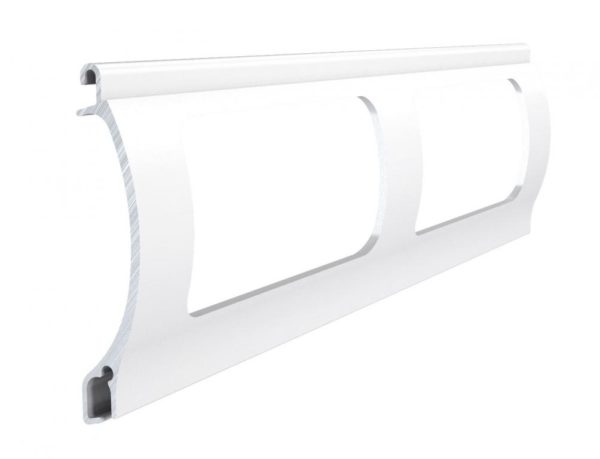 Weiss Stranggepresstes PEK 52 Aluminiumprofil Gitter