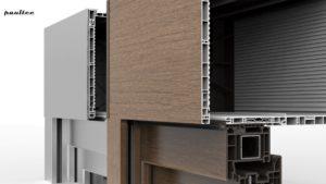 breite Palette von Ausführungsmöglichkeiten mit Furnier oder Aluminium