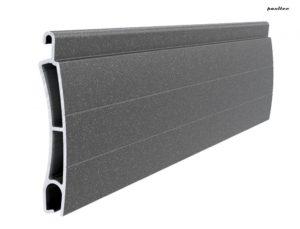 dunkelgrau perlmutt matt Stranggepresstes PE 41 Aluminiumprofil