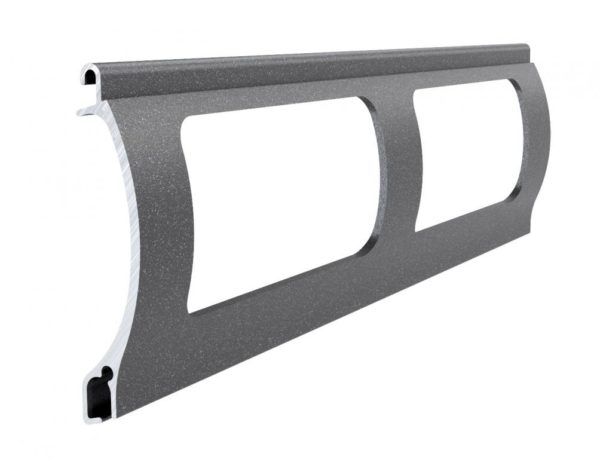 dunkelgrau perlmutt matt Stranggepresstes PEK 52 Aluminiumprofil Gitter