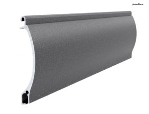 dunkelgrau perlmutt matt Stranggepresstes PEKP 52 Aluminiumprofil