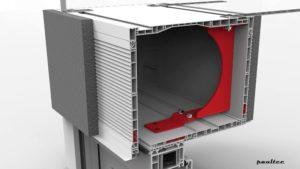 optional Stahlprofile und Verstärkungskonsolen, um die Stabilität bei sehr großen Abmessungen zu gewährleisten