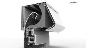 schmaler Gehäusebox mit Revisionsabdeckung von der Rückseite (Bebauung von außen möglich)