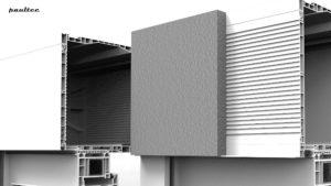 zweiseitiges Vorderprofil mit der Einsatzmöglichkeit in der bebauten und unbebauten Variante